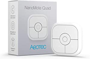 Aeotec NanoMote Quad, Z-Wave Plus S2 remote control, 8 scenes, Rechargeable, MiniMote 2