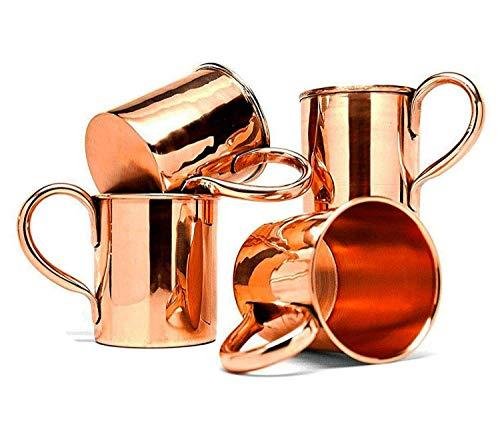 BonBon Classic Solid Copper Moscow Mule Mugs 16oz (Set of 4)