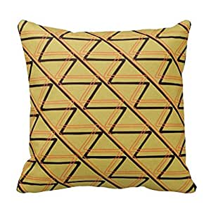 modern mustard yellow geometric throw pillow case home kitchen. Black Bedroom Furniture Sets. Home Design Ideas