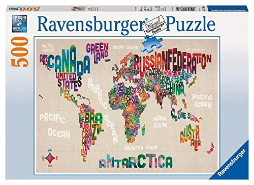 Ravensburger 14363 - World in Words, 500 Teile Puzzle