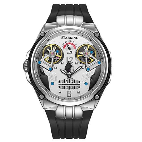 Hand Automatic Watch - STARKING Watch Black Men Automatic Watch AM0223 Double Luminous Hands Waterproof Man Business Watch