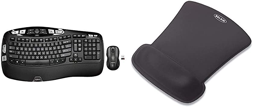 Uplord Wireless Keyboard and Mouse Combo /— Includes Keyboard and Mouse Stylish Design Built-in LCD Status Dashboard Long Battery Life