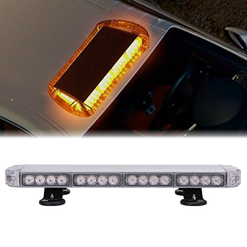 Snow Plow Dodge Truck (UNI FILTER 56 LED 27 Inch Amber Flash Directional Roof Top Led Light Bar Emergency Warning Strobe Lights for Dodge Ram RZR SUV Silverado GMC Ford Snow Plow Truck Mail Carrier Pickup Truck Jeep)