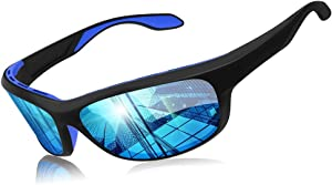 Elegear Gafas Deportivas Hombre Gafas de Sol Polarizadas Súper Ligero y Cómodo Anti UVA UV Marco TR90 Lente Espejo con REVO Gafas Hombre y Mujer Ciclismo MTB Running Coche Moto Montaña