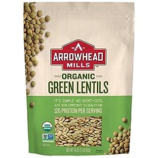 Arrowhead Mills Organic Green Lentils, 16 oz. Bag (Pack of 6)