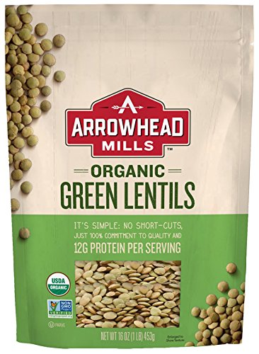 (Arrowhead Mills Organic Green Lentils, 16 oz. Bag (Pack of 6))