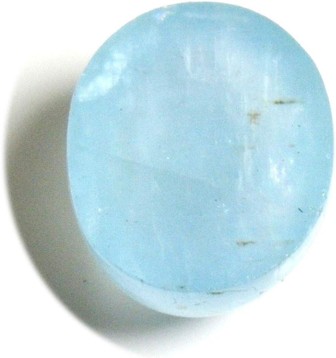 Aquamarine Gemstone Cabochon-Natural Aquamarine Faceted One Side Rose Cut Oval Cabochon-20x16 MM-3 Pcs-High Quality-Wholesalegems #W18273