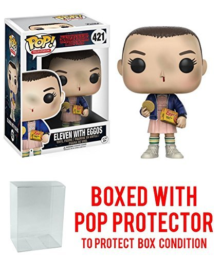 - Funko Pop TV: Stranger Things Eleven with Eggos Vinyl Figure (Bundled with Pop Box Protector Case)