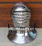 Maximilian Closed Helm Helmet - Steel - Wearable Costume Armor