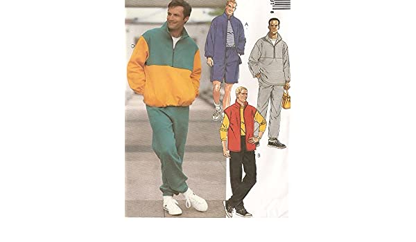 ae0c006c06e25 Amazon.com  McCalls Sewing Pattern 8579 Mens Casual Fleece Jacket ...