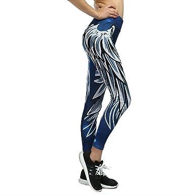 HX fashion Mujeres Yoga Impreso La Moda Pantalón Largo Correr ...