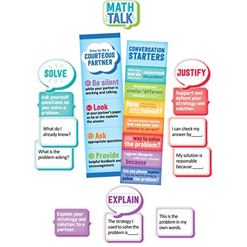 Amazon.com : Creative Teaching Press Math Talk Mini Bulletin Board ...