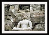 GreatBIGCanvas ''Low Angle View of The Statue of Buddha, Borobudur Temle, Java, Indonesia '' Photographic Print with black Frame, 36'' X 24''''
