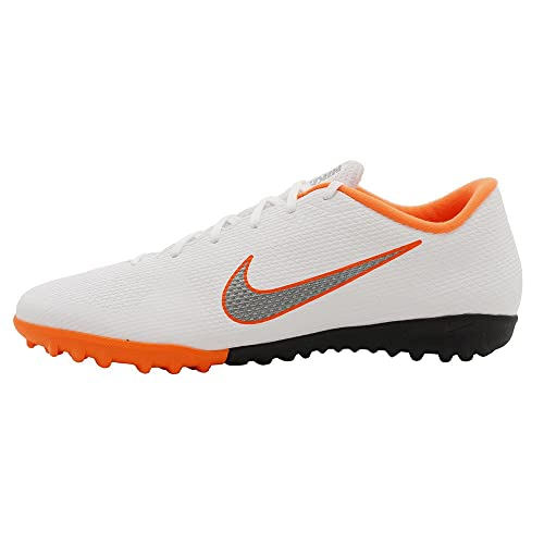 Amazon.com | Nike Mens VAPORX 12 Academy TF (8.5 M US, White/MTLC Cool Grey) | Soccer