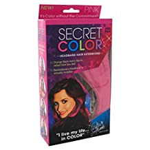 Secret Color Headband Hair Extensions Pink (2 Pack)