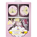 Multicraft Imports Party Craft Deluxe Cupcake Box, A Princess Tale, Set of 24