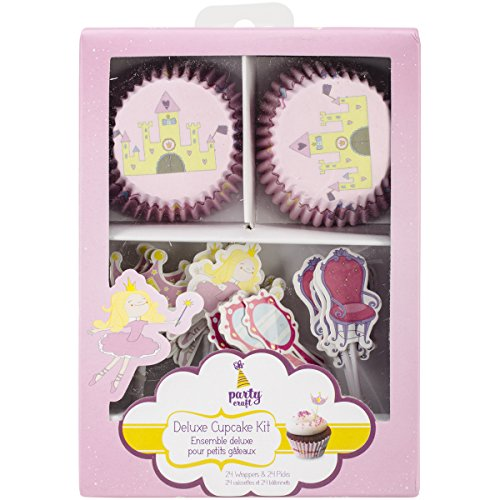 Multicraft Imports Party Craft Deluxe Cupcake Box, A Princess Tale, Set of 24 by Multicraft Imports