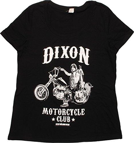 (Walking Dead Dixon Motorcycle Club Ladies T-Shirt, 5X-Large)