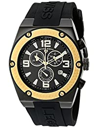 Swiss Legend Men's 30025-BB-01-GB Throttle Chronograph Black Dial Watch