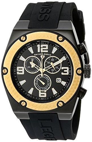 Swiss Legend Men's 30025-BB-01-GB Throttle Chronograph Black Dial Watch (Chronograph Legend Mens Swiss)