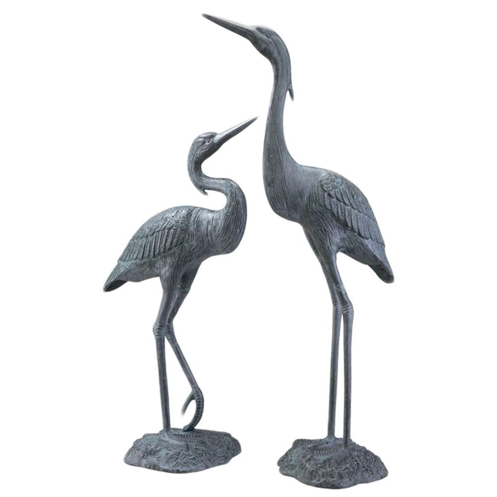 Amazon.com : SPI Home 33223 Garden Heron Pair Sculpture : Outdoor Statues :  Patio, Lawn U0026 Garden