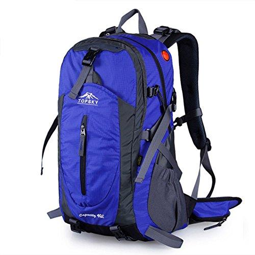 sacchetto di alpinismo/Outdoor trekking zaino/Pacchetti a cavallo impermeabile traspirante/Viaggio zaino trekking-blu 50L