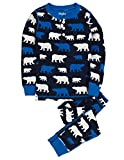 Hatley Little Boys' Henley Pajama Set Polar Bears, Blue, 4