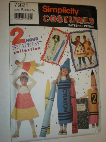Simplicity Costumes Pattern, Child, Cayon, Pencil, Toothpaste, Pizza 7921 (Toothpaste Pizza)