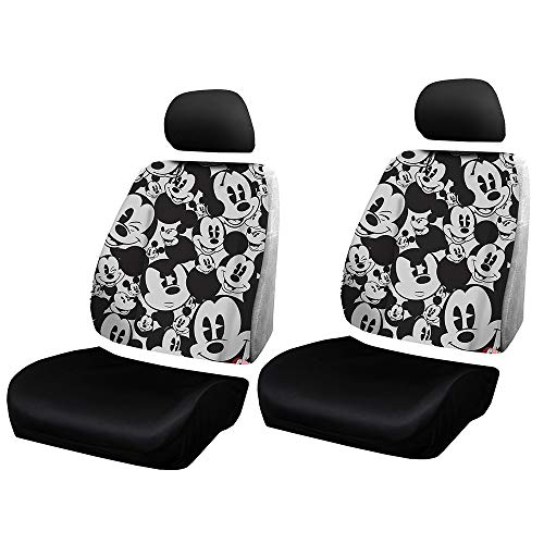 Disney Car Seats - Plasticolor Disney Mickey Mouse Expressions Universal Car Truck or SUV Sideless New 3-Piece Seat Cover w/Head Rest - One Pair