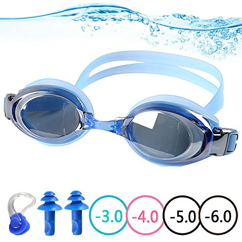 98f4a2ef73 YINGNEW Prescription Swim Goggles 100% UV Protection