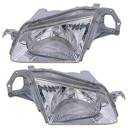 amazon com: 1999-2000 mazda protege headlight headlamp front head light  lamp set pair left driver and right passenger side (99 00): automotive