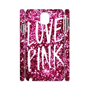 Love Pink Personalized 3D Cover Case for Samsung Galaxy Note 3 N9000,customized phone case ygtg569511