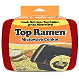 #4: Top Ramen Rapid Cooker - Microwave Ramen in 3 Minutes - BPA Free and Dishwasher Safe - Red