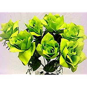 Inna-Wholesale Art Crafts New 84 Lime Green Pen Roses Bouquet Decorating Flowers - Perfect for Any Wedding, Special Occasion or Home Office D?cor 50