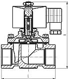 "Duda Diesel 2W25025N:24v 25 mm 1"" NPT Normally"