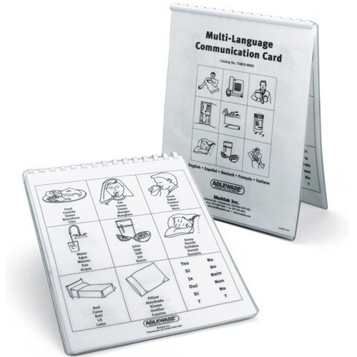 Ableware 718130025 Multi Language Communication Cards