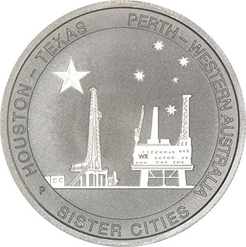 1/2 oz Silver Texas-Australia Sister Cities Coin (Ounce Coin 0.5 Silver)