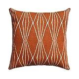 Burnt Orange Pillow Cover Decorator Pillow Cover Home Decor Pillow Rust Diamonds Cushion Cushion Pillow Case