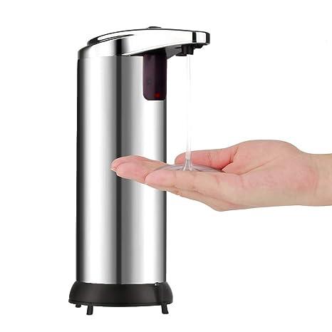 VADIV Dispensador de Jabón Automático Sensor de Infrarrojos dispensador de jabón Touchless Base Impermeable para Cocina