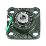 uxcell® Pillow Block Cast Bearing UCF201 12mm Mounted Bear Square Flange