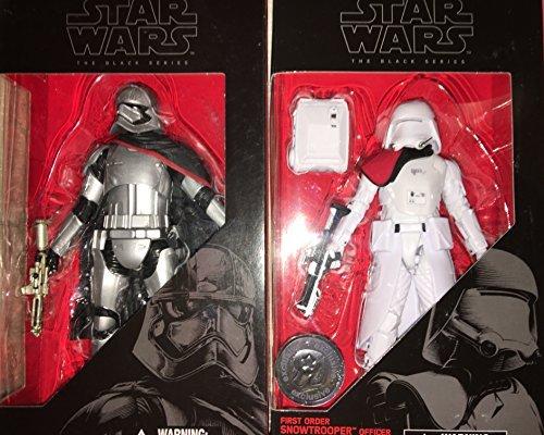 Star War Force Awakens Black 6 inch exclusive set of 2: Captain Phasma & 1st Order Snowtrooper Officer