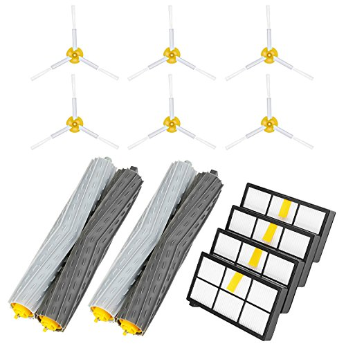 YABELLE Replacement Accessories Kit for iRobot Roomba 800&900 Series 870 880 980 805 850 860, Includ Side Brush, Bristle Brush, Roomba Filter and Flexible Beater Brush