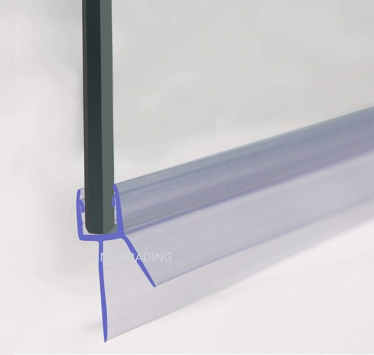 Ventana Gap sellador de baño Pantalla de Ducha Puerta de Cristal de 8 mm Sello for hasta 13 mm Gap Decoración de Ventanas (Color : Clear)