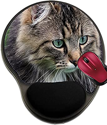 Liili Mousepad wrist protected Mouse Pads/Mat with wrist support design ID: 23996911 A pretty cat Norwegian