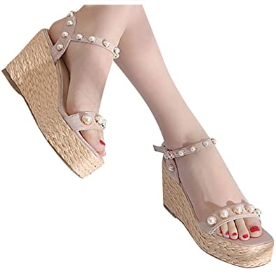 Comfortable l Ankle Strap Buckle Wedge Sandals | Shoes, Shoe