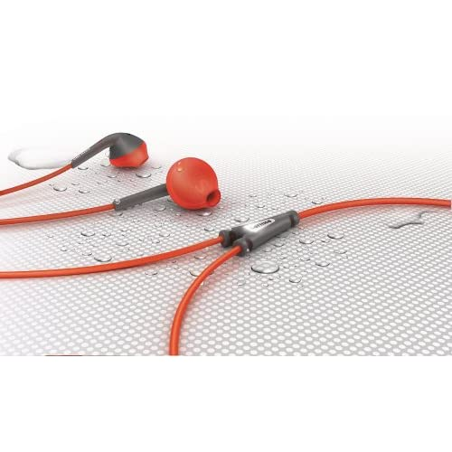Philips SHQ1200 ActionFit Sports In-Ear Headphones, Orange and Grey 6