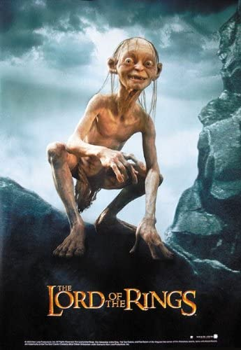 """MOVIE POSTER // PRINT GOLLUM // EVIL SIZE: 27/"""" X 39/"""" THE LORD OF THE RINGS"""