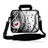 Fshb15-012 NEW Fashion Music & Red heart 14' 14.1' 14.2' 15' 15.4' 15.6' Inch Laptop Notebook Computer Netbook Soft Shoulder Bag Dual Zipped Neoprene Messenger Bag Case Cover Pouch Holder Pocket for Apple Macbook Pro 15 Macbook Air 15 Powerful HP Pavilion TouchSmart IBM ThinkPad T60 And SONY VAIO FLIP 15A Most 15' 15.4' 15.6' Inch Laptop Ultrabook Chromebook Laptop Notebook /New Retina Apple Macbook Pro 15 Laptop /Sony HP Dell Acer ASUS,15.6' HP Pavilion/Dell Inspiron