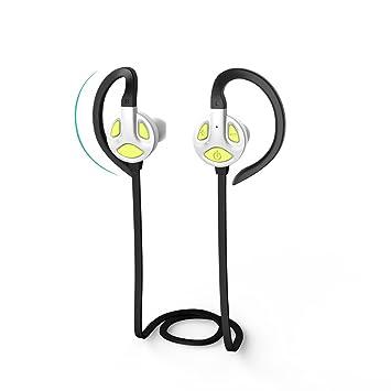 LKJCZ Auriculares Bluetooth Inalámbricos Deportivos, Bluetooth 4.1 Auriculares Deportivos Ligeros Y Micrófono Funcionan con Una