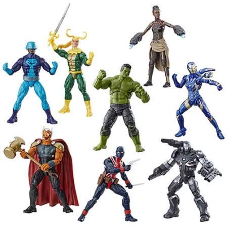 (Avengers: Endgame Marvel Legends Wave 2 Set of 7 Figures (Hulk BAF))